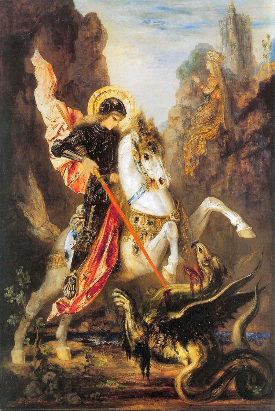 Гюстав Моро Святой Георгий и дракон. 1890 год