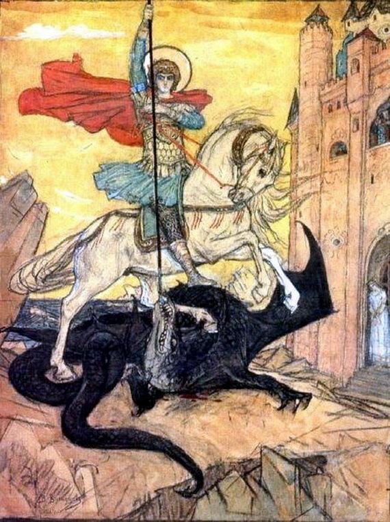 В.М. Васнецов. Святой Георгий Победоносец, 1919 год