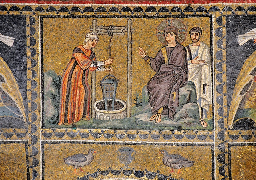 Беседа Христа с самарянкой. Италия,  Ravenna, VI век