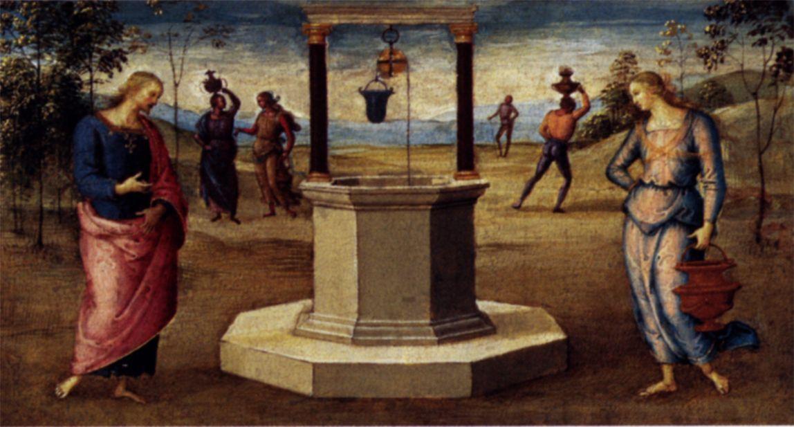 Христос и самарянка. Пьетро Перуджино, 1506-1507 гг. Институт искусств (Чикаго)