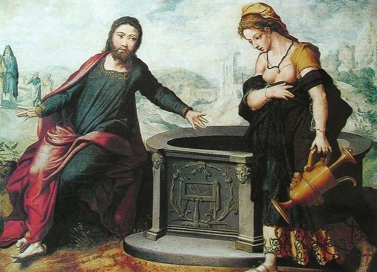 Христос и самарянка. Артсен, Питер. Ок. 1543–1545 гг.  ГМИИ