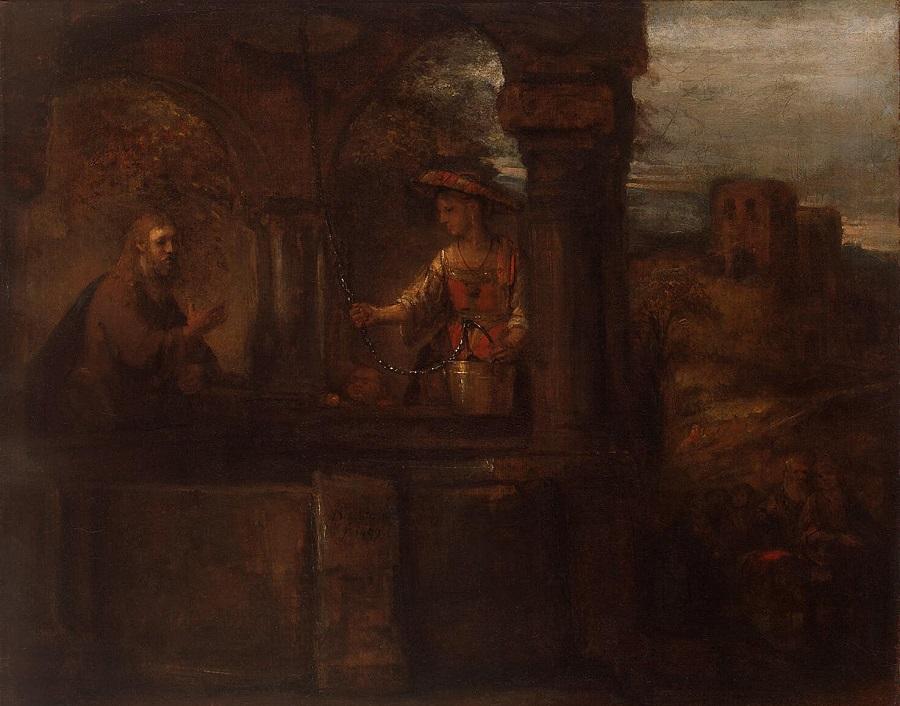 Христос и самарянка. Рембрандт Харменс ван Рейн. 1659 г. Эрмитаж