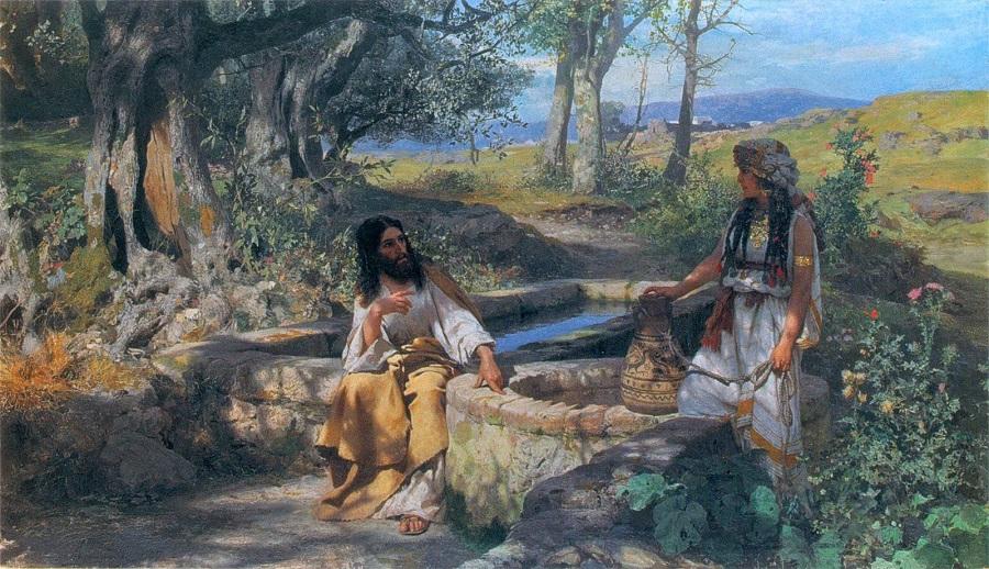 Христос и самарянка. Генрих Семирадский. 1890 год. Львовская государственная картинная галерея