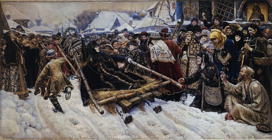 Картина художника Василия Сурикова — «Боярыня Морозова»