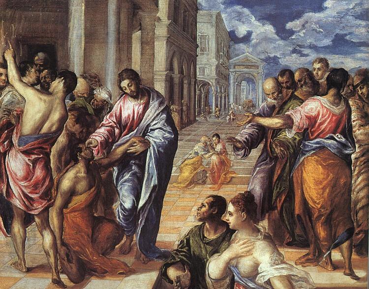 Христос, исцеляющий слепого. XVI век. Эль Греко