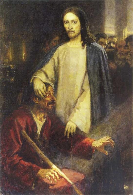Исцеление слепого Христом. 1892 г. В.И. Суриков