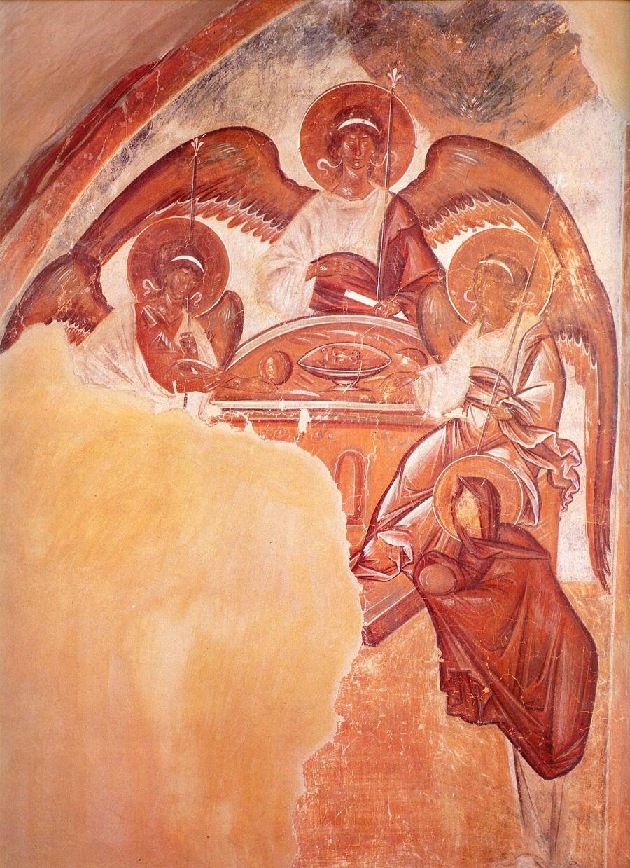 Фресковая роспись новгородской церкви спаса преображения на ильине улице