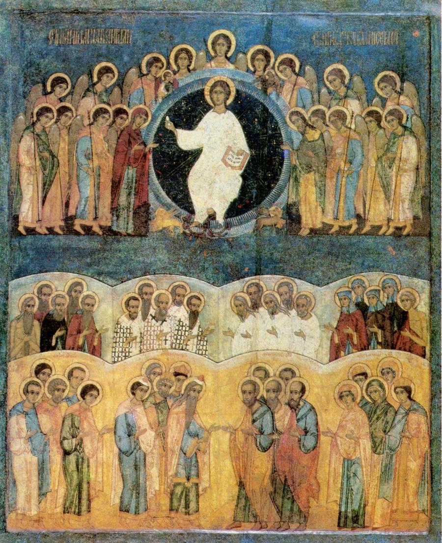 Неделя Всех святых. Икона. Русь. XVI век