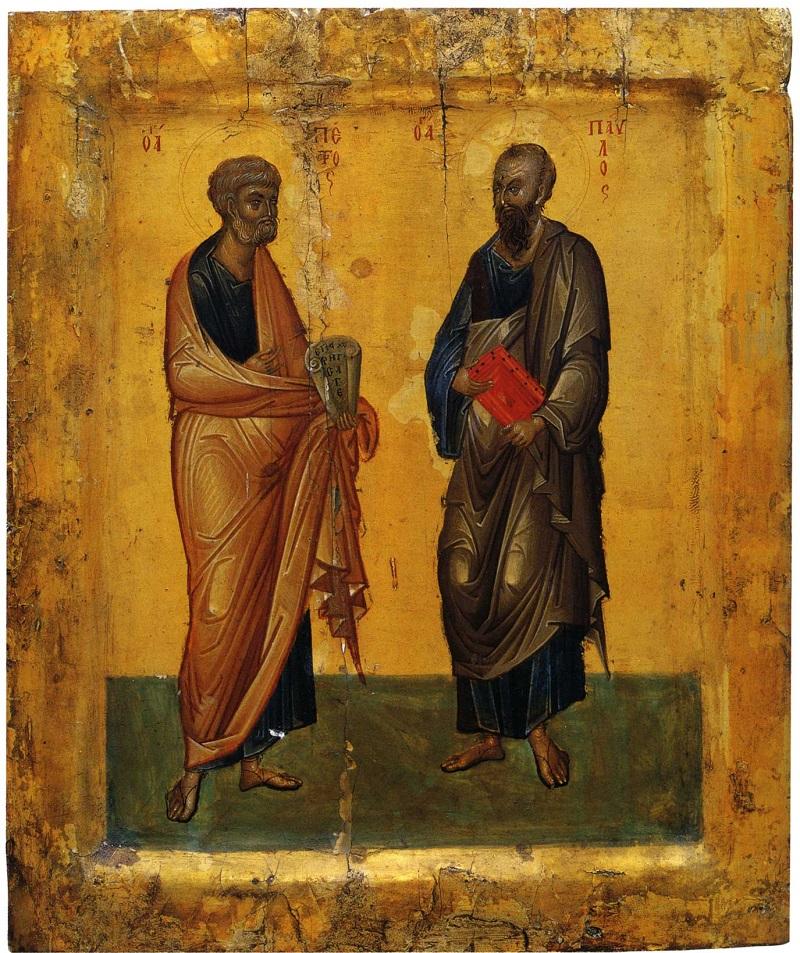 Апостолы Петр и Павел. Середина XIV в. Монастырь св. Екатерины, Синай, Египет