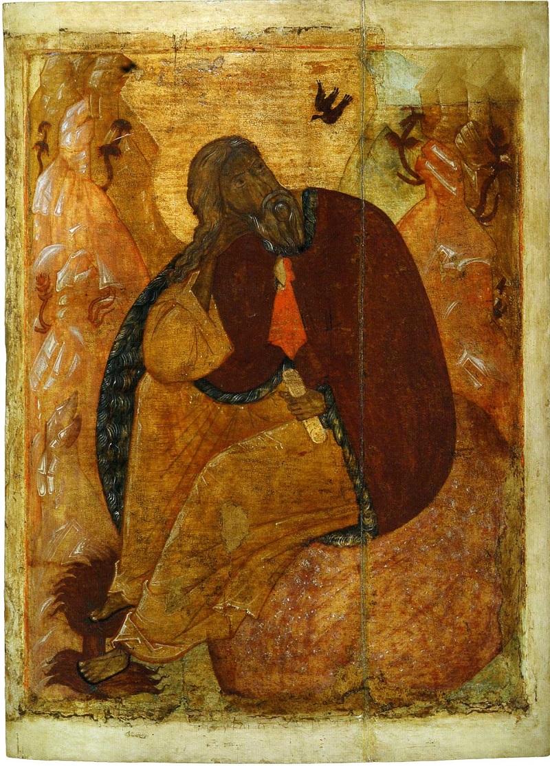 Илия Пророк в пустыне. Ярославль. Конец XV в. Ярославский художественный музей, Ярославль