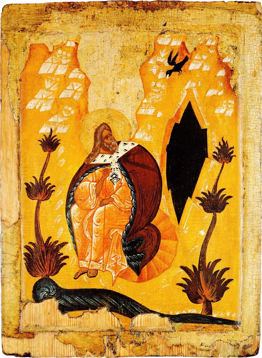 Илия Пророк в пустыне. Первая треть — вторая четверть XVI в. Собрание В. А. Бондаренко, Москва