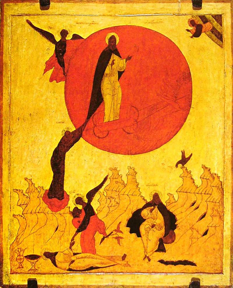 Огненное восхождение Илии Пророка. Русский Север. XVI в. Государственный исторический музей, Москва