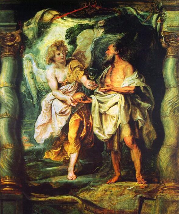 Пророк Илия и ангел в пустыне. Питер Пауль Рубенс. 1626-1628 гг. Музей Бонна,  Байонна