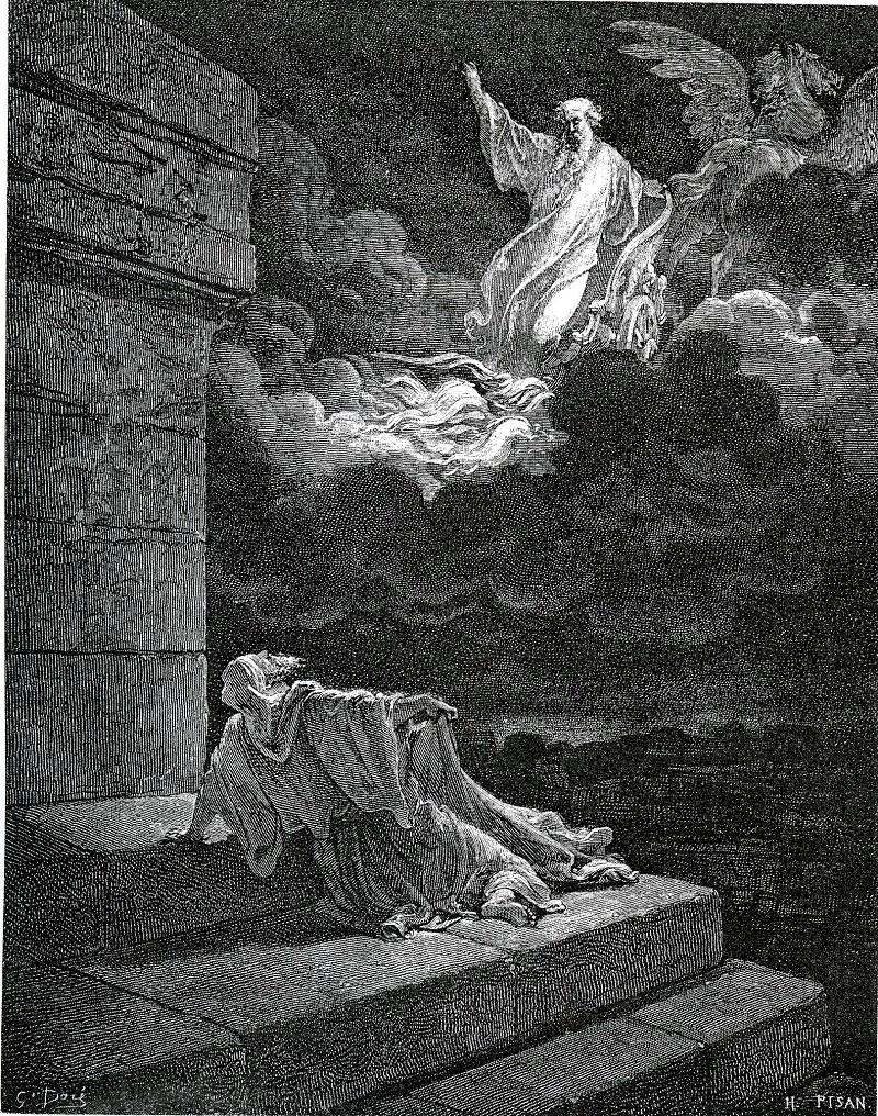 Вознесение пророка Илии. Поль Гюстав Доре. Ок. 1855–1866 гг.