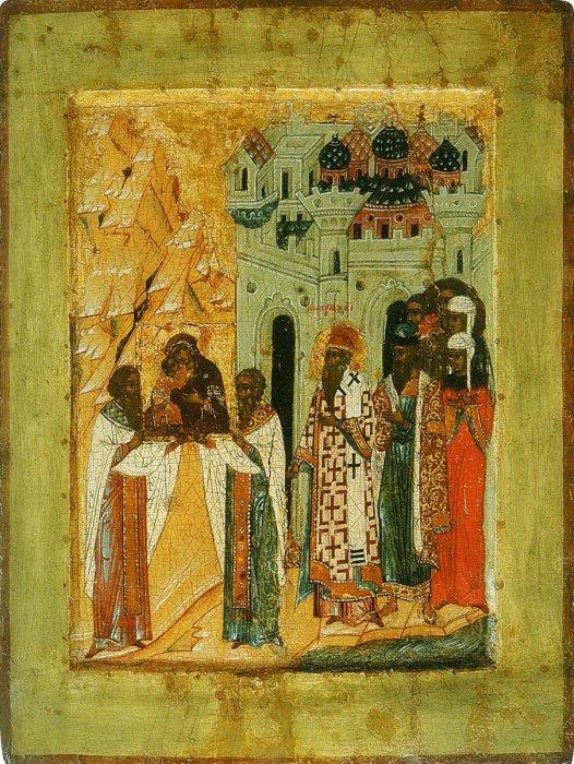 «Сретение Владимирской иконы». XV век