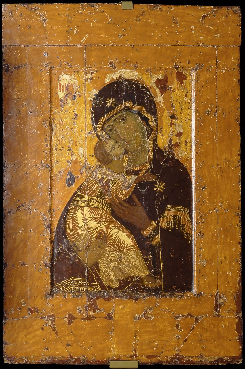 Образ Божией Матери Владимирской с нарощенными полями. Константинополь. Первая треть XII века