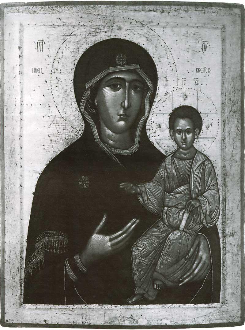 Смоленская икона Богоматери. Византия (?). Конец XIV в. Москва, ГТГ