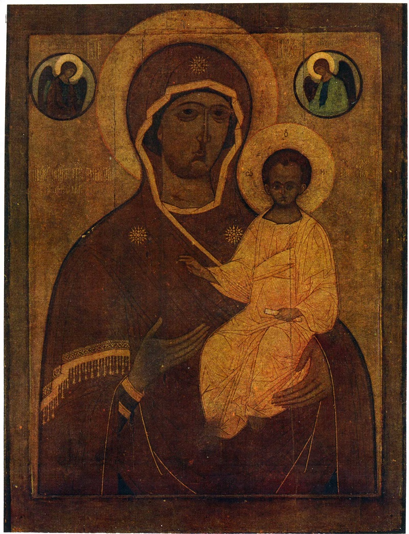 Смоленская икона Богоматери.  XV в. Покровский собор Рогожского кладбища, Москва