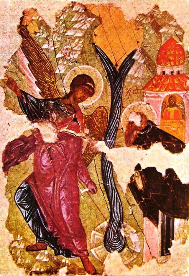 «Чудо в Хонех» из афонского монастыря Хиландар, ХIV-ХV вв. Национальный музей, Белград
