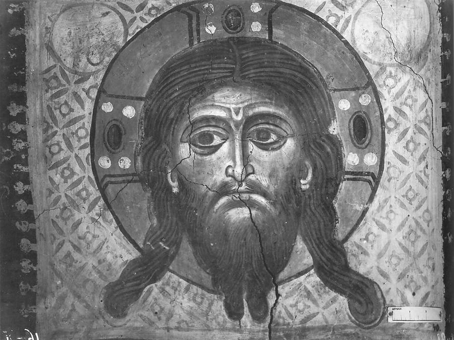 Спас Нерукотворенный на убрусе. Церковь Спаса на Нередице, Новгород. 1199 г.