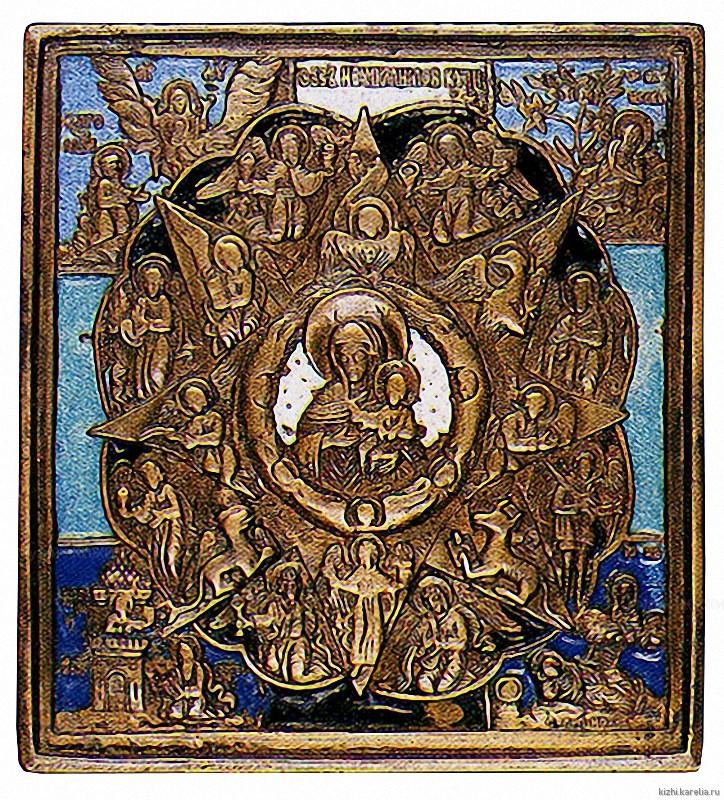 Икона Богоматерь «Неопалимая Купина». XIX в. Из д. Коровниково Медвежьегорского р-на