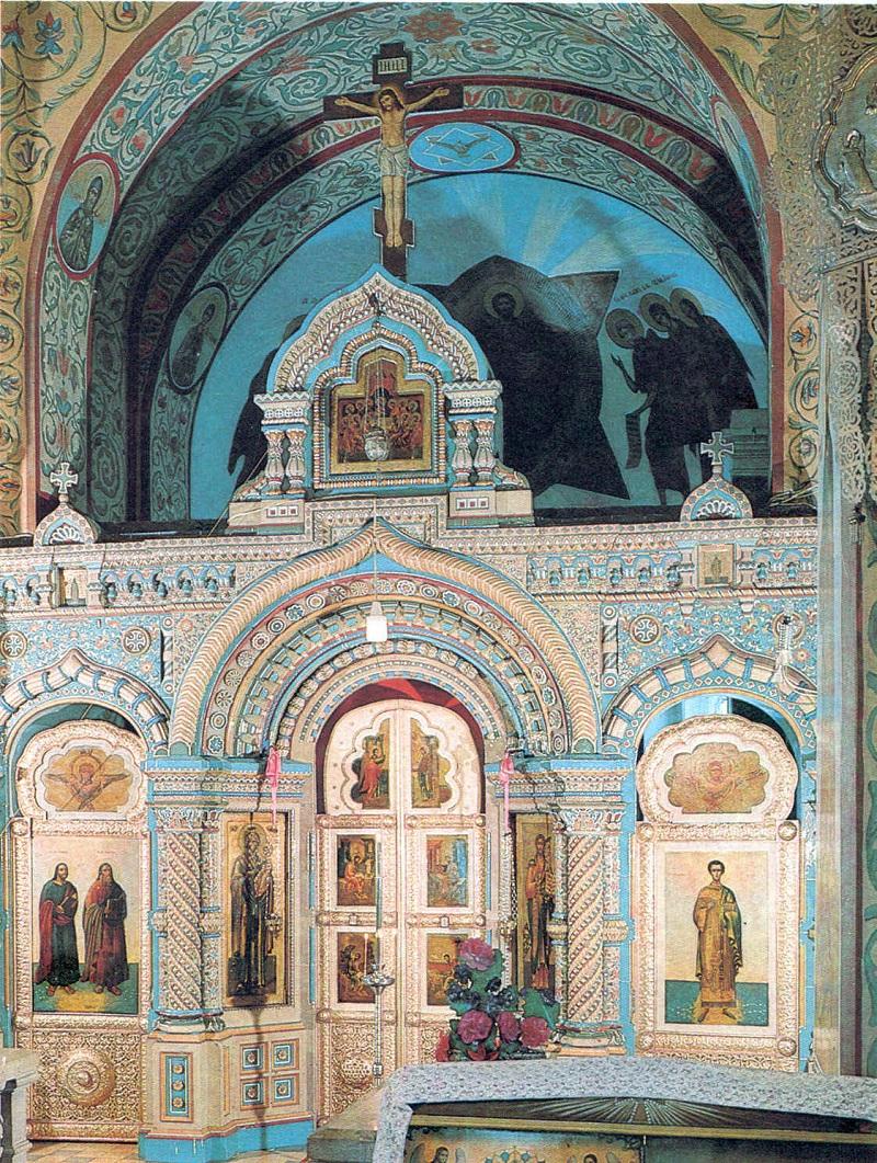 Керамический иконостас в церкви Благовещения Пресвятой Богородицы с. Новотомниково Тамбовской обл.