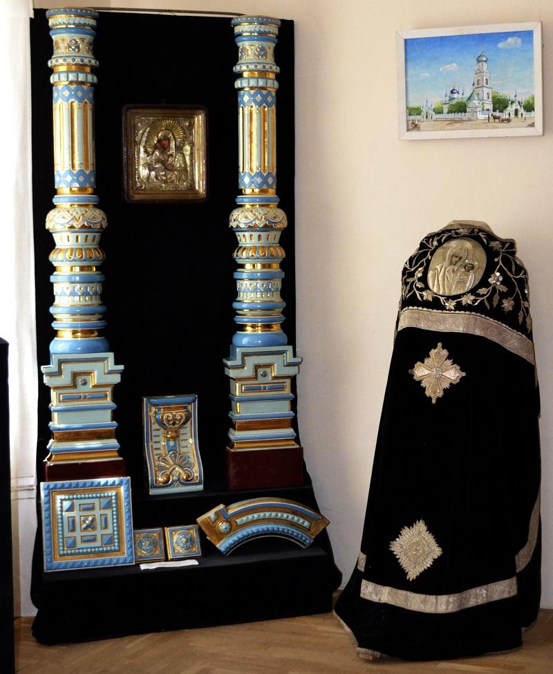 Фрагменты фаянсово-эмалевого иконостаса из церкви архангела Михаила г. Талдома Московская обл.