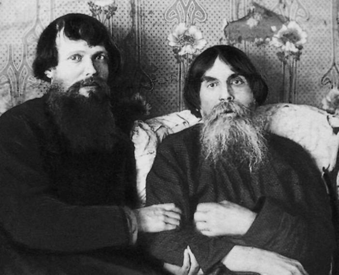 Старообрядцы-странники Давыд Васильевич и Федор Михайлович. Фотография 1918 г.