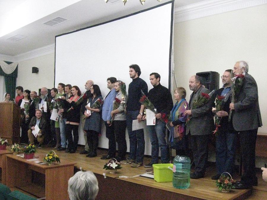 Совместное фото лауреатов кинофестиваля