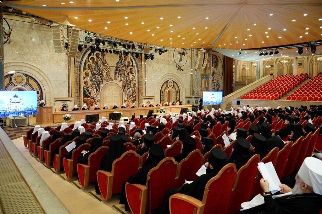 Зал церковных соборов кафедрального храма Христа Спасителя в Москве