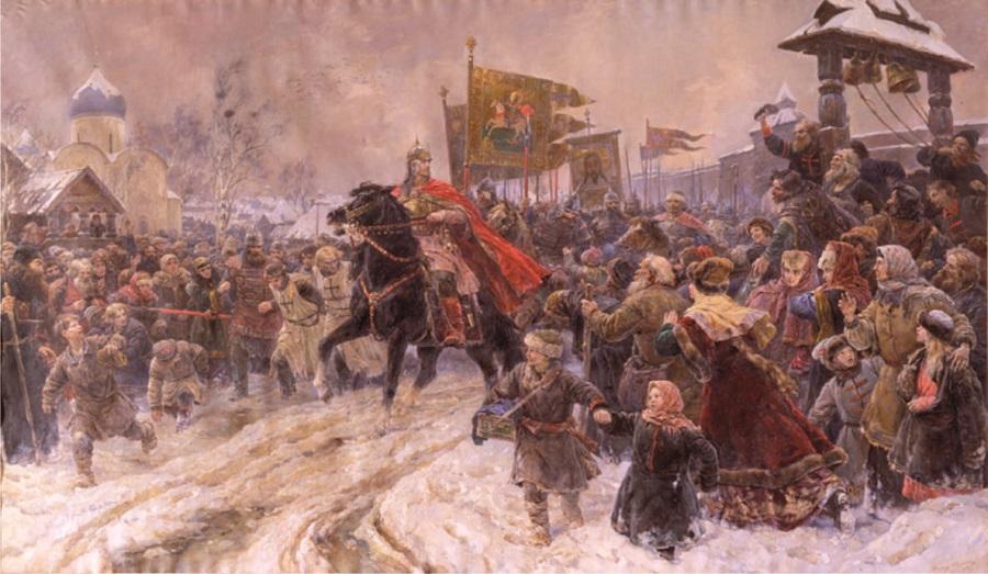 В.А. Серов. «Въезд Александра Невского в Псков после Ледового побоища»