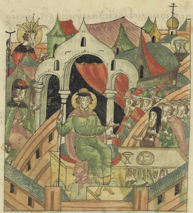 Великий князь Александр Ярославич. Миниатюра из ЛЛС
