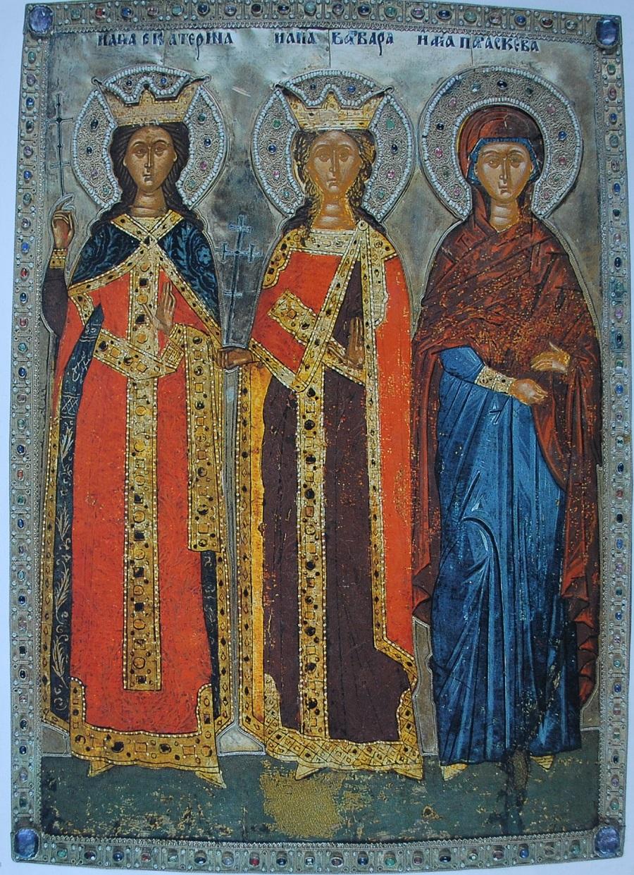 Святые великомученицы Екатерина, Варвара и Парасковея. Монастырь святой Екатерины