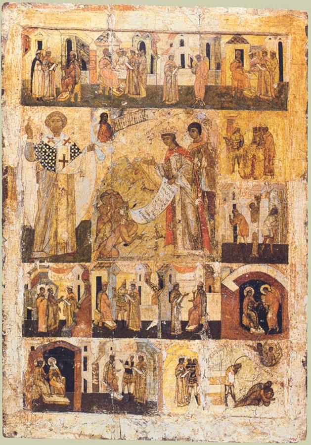 Моление великомученицы Екатерины о народе. Русь, XVI век