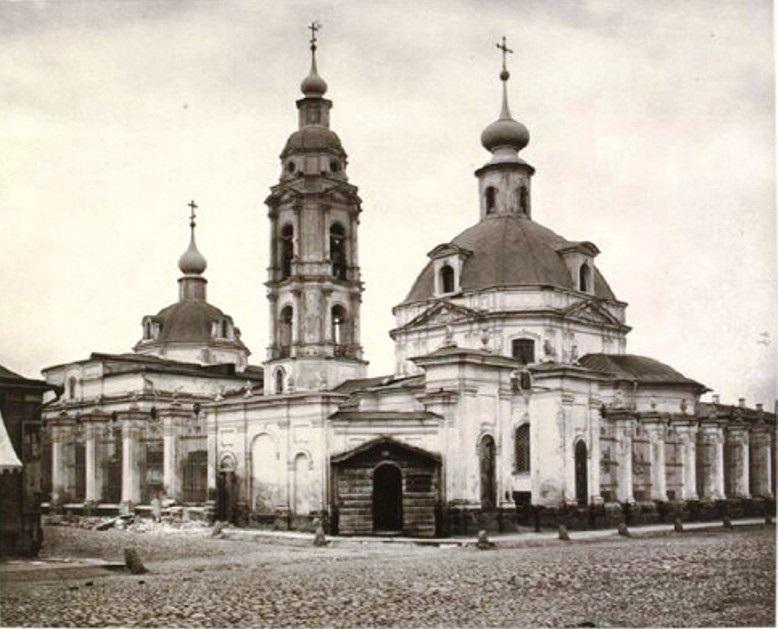 Храм великомученицы Екатерины на Большой Ордынке. Фото 1883 года (с южной стороны)
