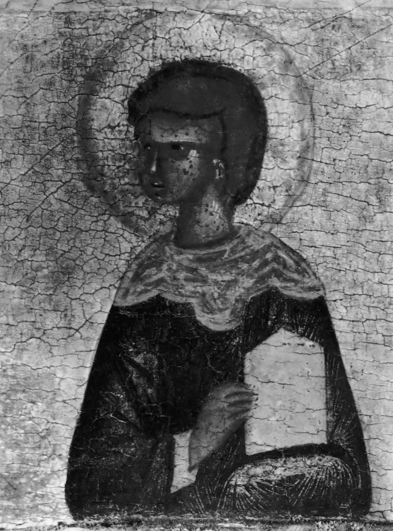 Святой чудотворец и бессребреник  Дамиан. Конец XV в. Русский музей