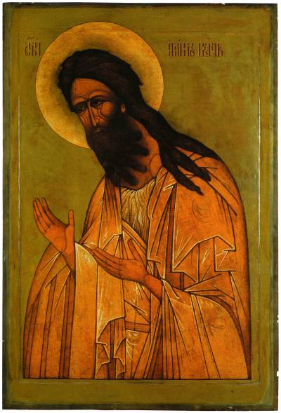 Иоанн Предотеча. Из деисусного чина. Вторая половина XVI в.