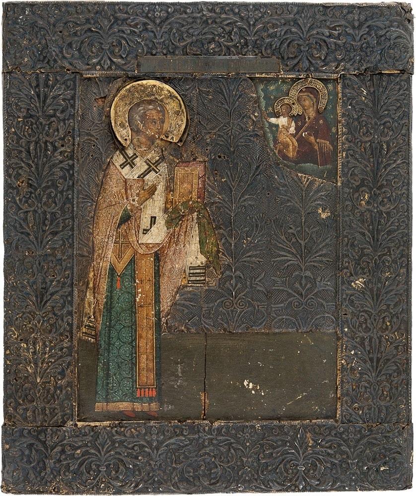 Святитель Никита, епископ Новгородский. Середина XVII века. Россия, частное собрание