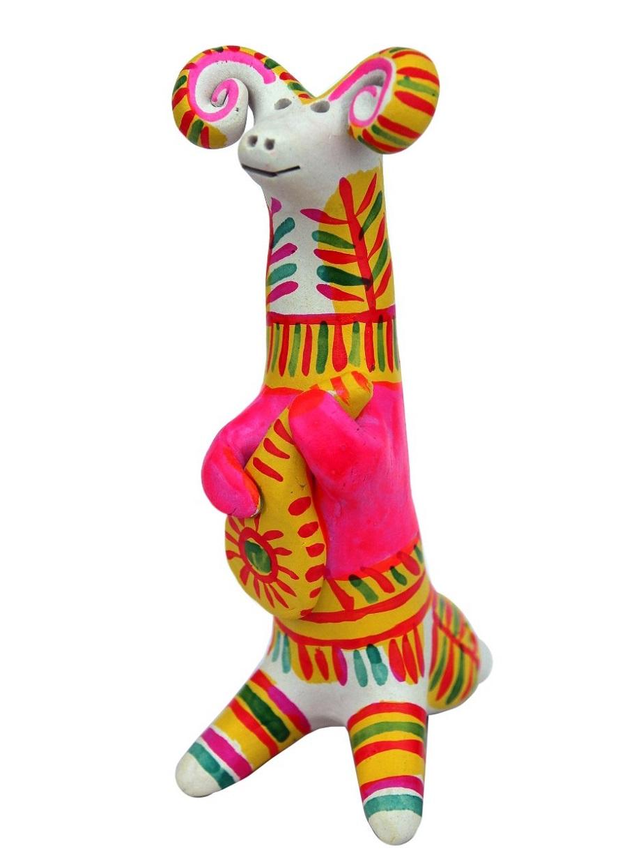 Филимоновская русская народная игрушка «Баран»