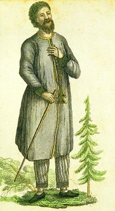 Старообрядец поморского согласия. Гравюра, 1794 год