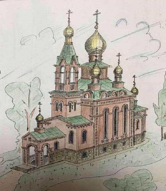 Предполагается, что так будет выглядеть будущий храм РПсЦ в Нижнем Тагиле