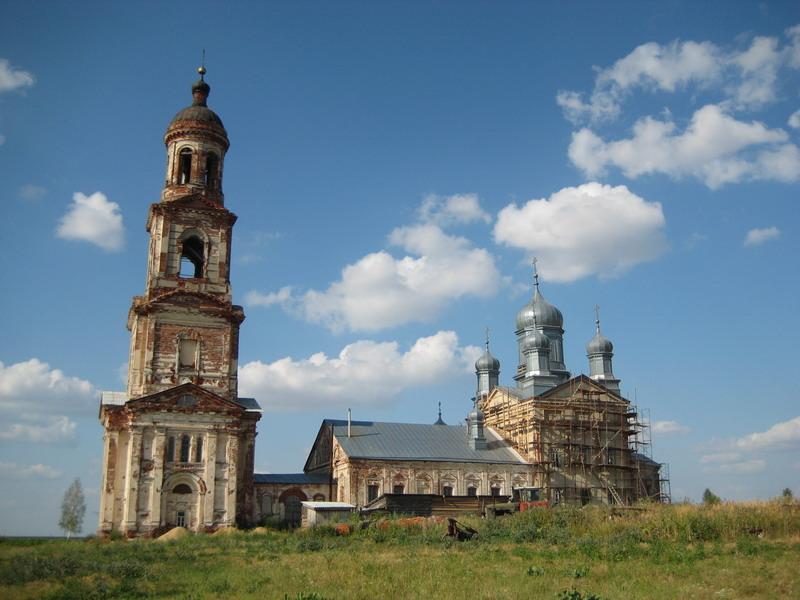Церковь Всемилостивого Спаса в селе Нуча Нижегородской области