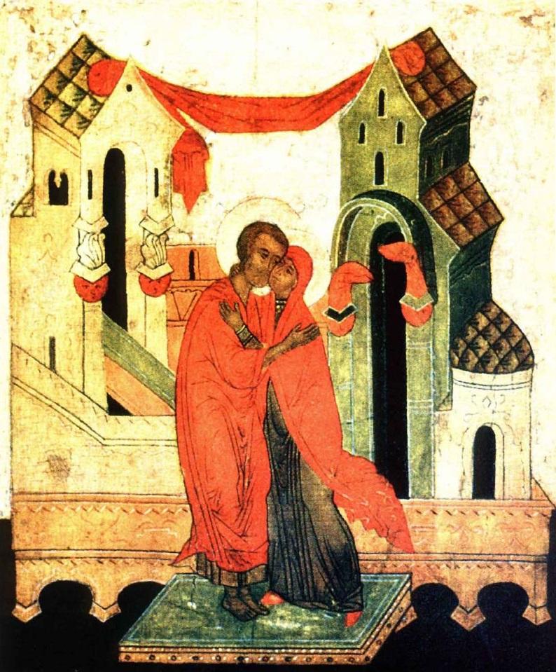 Зачатие праведной Анною Пресвятой Богородицы. Икона, XV век. Германия, Музей Реклингхаузен