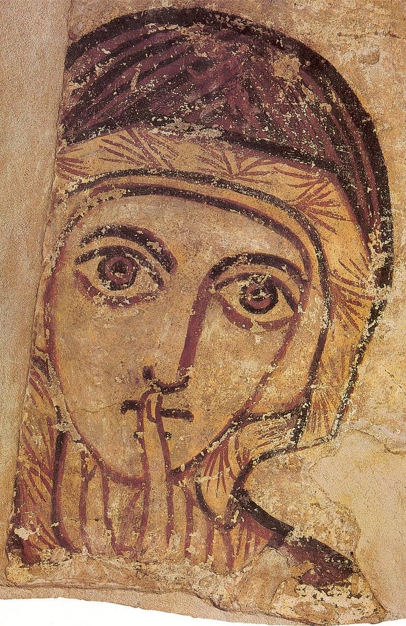 Святая праведная Анна. Фреска из Фарраса, VIII век