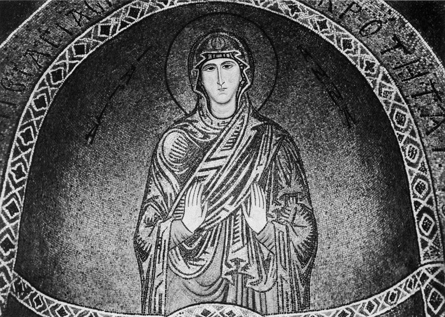 Святая праведная Анна. Марторана, 1146–1151 гг.