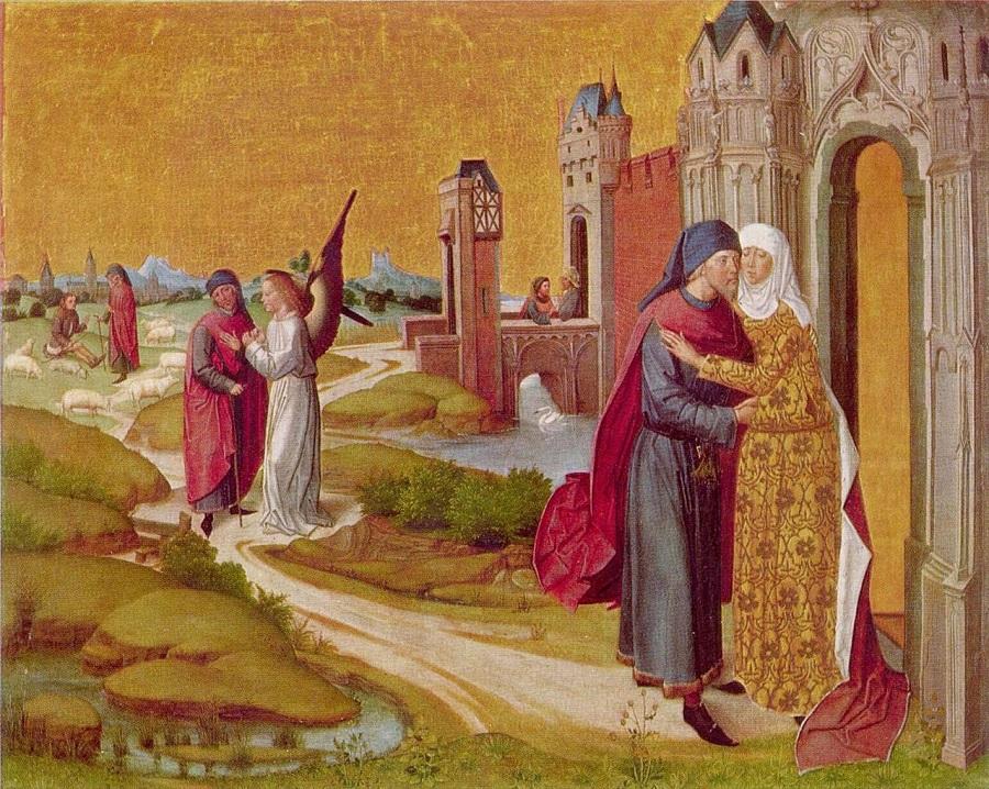 Встреча Анны и Иоакима у Золотых ворот, Мастер жития Марии, ок. 1460, Старая Пинакотека
