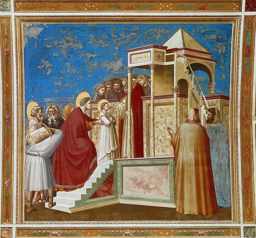 Введение во храм, фреска Джотто, капелла Скровеньи