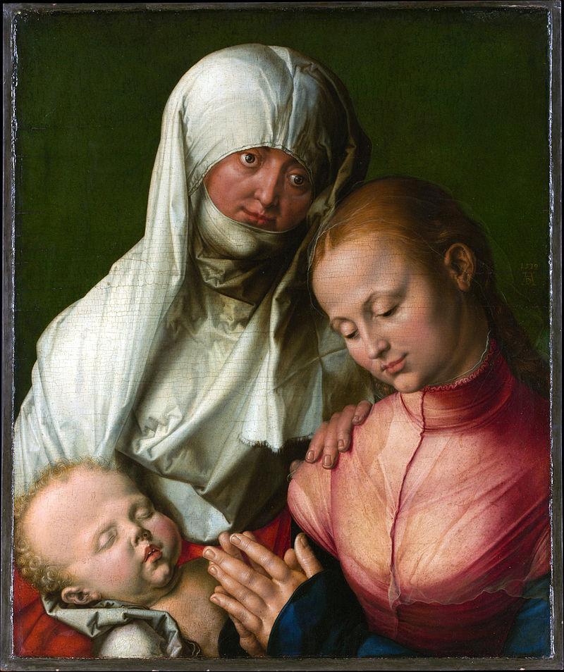 Мадонна с младенцем и святой Анной. Дюрер