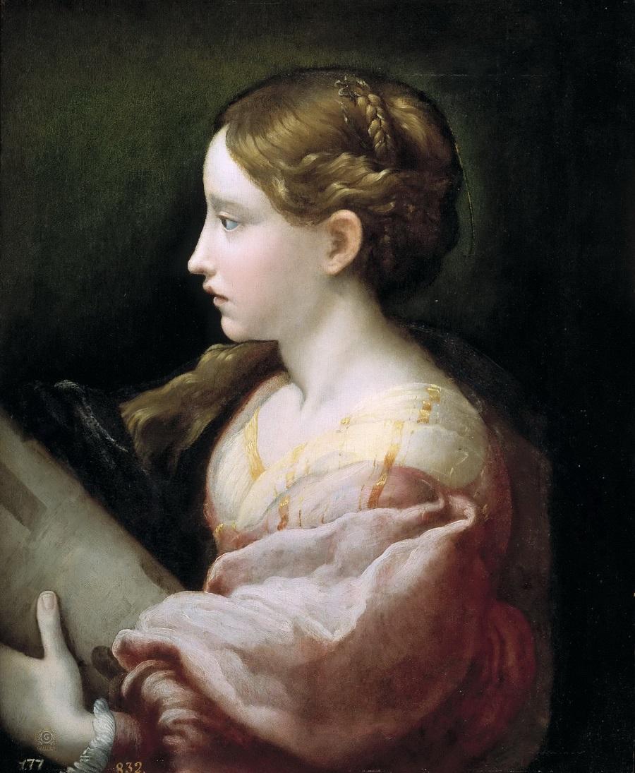 Святая Варвара. Франческо Пармиджанино. 1522 год, Музей Прадо
