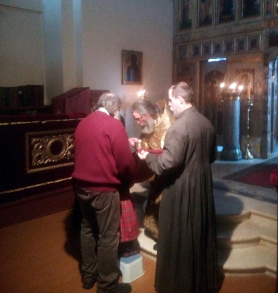 Москва, 22 февраля 2019 г. Внифантий (Смольников) служит литургию